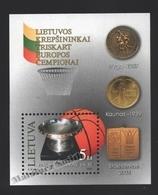 Lituanie – Lithuania – Lituania 2003 Yvert BF 30, Sports, Basketball, European Champions - MNH – Miniature Sheet - Litauen