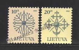 Lituanie – Lithuania – Lituania 2003 Yvert 710-11, Definitive, Reprints - MNH - Lituanie