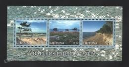 Lituanie – Lithuania – Lituania 2001 Yvert BF 24, Coastal Landscapes - MNH – Miniature Sheet - Litauen