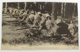 Carte Postale Guerre De 1914 - Infanterie Allemande A La Lisière D'un Bois - RE - Guerre 1914-18