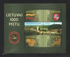 Lituanie – Lithuania – Lituania 2001 Yvert BF 23, Millenary Of Lithuania - MNH – Miniature Sheet - Litauen