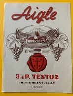 10702 - Aigle Suisse J & P Testuz Ancienne étiquette - Etiquetas