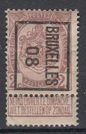 """BELGIË - PREO -1908 - Nr 7 B  - BRUXELLES """"08"""" - (*) - Precancels"""