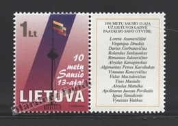 Lituanie – Lithuania – Lituania 2001 Yvert 656, In Memory Of The Events Of The 1st January 1991 - MNH - Litauen