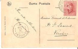 """CP. SPA """"Château """"La Fraineuse"""" TP. 168 Obl. """"Conférence Diplomatique De Spa"""" En 1920 - 1915-1920 Albert I"""