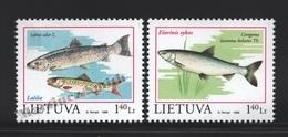 Lituanie – Lithuania – Lituania 1998 Yvert 586-87, Fauna Protection, Fish - MNH - Litauen