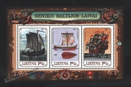Lituanie – Lithuania – Lituania 1997 Yvert BF 12, Baltic Ships - MNH – Miniature Sheet - Litauen