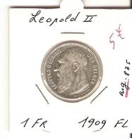 LEOPOLD II --  1 Fr. 1909 FL - 1865-1909: Leopold II