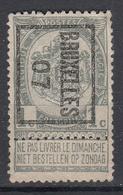 """BELGIË - PREO -1907 - Nr 4 B  - BRUXELLES """"07"""" - (*) - Precancels"""