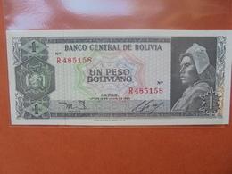 BOLIVIE 1 PESO 1962 PEU CIRCULER - Bolivie