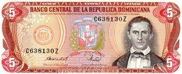 MEC.62 / RÉP. DOMINICAINE / 5 PESOS ORO 1988 SANCHEZ / UNC - Dominicana