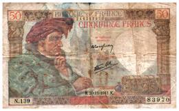 Billets > France > 50 Francs 20-11-1941.K. - 1871-1952 Antichi Franchi Circolanti Nel XX Secolo