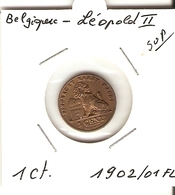 LEOPOLD II  --  1 Ct 1902/01 FL - 1865-1909: Leopold II