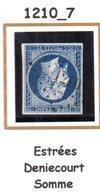 Fance : Petit Chiffre N° 1210 : Estrées Deniecourt ( Somme ) Indice 7 - Marcophilie (Timbres Détachés)