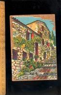 Carte Postale En Liège Peinture Sur Liège Inatérable Olbidécor La Poterie Hyères Var / Vieille Rue à Escalier - Altri