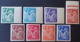 R1949/998 - 1944 - TYPE IRIS - SERIE COMPLETE NON DENTELE - N°649 à 656 NEUFS** (4 BdF) - Cote : 115,00 € - France