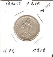 3° REPUBLIQUE  --  1 Fr. 1908 - France