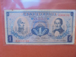 COLOMBIE 1 PESO 1964 CIRCULER - Colombia