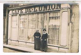 A Identifier  Carte Photo  Cafe De L Union  OU ? ID88 - Postcards