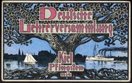 Ansichtskarte Deutsche Lehrerversammlug Kiel Pfingsten 1914 Schleswig-Holstein - Duitsland