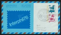 Flugpost Airmail Berlin Ganzsache SST Ingelheim Int. Tage USA 200 Postal  - Briefmarken