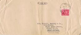 33243. Carta By SEA MAIL . MADRAS (India) 1957 To England - 1950-59 República