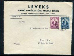 Turquie - Enveloppe Commerciale De Istanbul Pour La France En 1935 -  Réf J177 - Briefe U. Dokumente