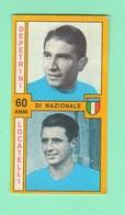 Calcio PANINI VALIDA Figurine Calciatori Nazionale Italiana Depetrini + Locatelli 1969 / 1970 - Edizione Italiana
