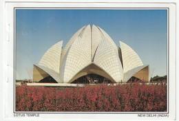AK Indien. New Delhi Lotus Temple Bhai. 2005 Postalisch Gelaufen Nach Düsseldorf. 2 Scans. 16,1 X 11 Cm - Indien