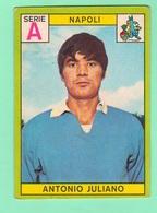 Calcio PANINI VALIDA Figurine Calciatori 1968 / 69 JULIANO Serie A Napoli - Edizione Italiana