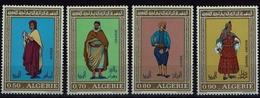 Algerie Algerien 1971 - Trachten  Folf Costume - MiNr 574-577 - Kostüme
