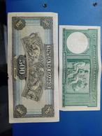 GREECE BANKNOTE 50 DRACHMAS 1939 AND 500 DRACHMAS 1932 - Grecia