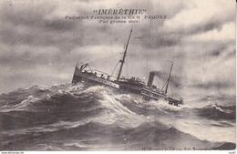 """CPA BATEAUX    Paquebot  """"IMERETHIE"""" De La Cie Paquet,  Par Grosse Mer. ...D163 - Steamers"""