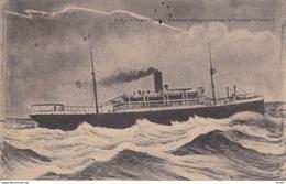 """CPA   Paquebot """"FRANKWALD""""  Steamer Naviguant Sous La Pavillon Interallié  ...D143 - Steamers"""