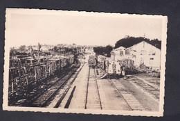 Carte Photo Originale Mme Goulpeau Neufchateau (88)  Gare Après Bombardement 1944 Train Detruit Guerre 39-45 WW2 - Neufchateau