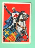 Figurine PANINI Bisvalida Serie UOMINI ILLUSTRI Nr. 100 Riccardo Cuor Di Leone 1967 - Edizione Italiana