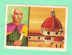 Figurine PANINI Bisvalida Serie UOMINI ILLUSTRI Nr. 130 Brunelleschi 1967 - Edizione Italiana