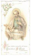 PRIERE A ST JOSEPH PRESCRITE PAR SA SAINTETE LEON XIII JESUS ALLEZ A JOSEPH IMAGE PIEUSE Holy Card Santini Prentje - Devotion Images