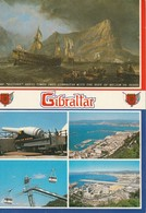 Gibralter 1 - 100 - Ton Gun Buster 2 - Town And Harbour 3 - Cable Cars 4 - Western View Of Airport - Gibraltar