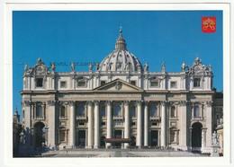 AK Vatikan Peterskirche Basilica Di San Pietro. St. Peter's Postalisch Gelaufen Nach Düsseldorf. 2 Scans. 16 X 11,5 Cm - Vatikanstadt