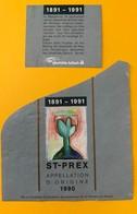 10723 - 1891-1901 Centenaire De Verrerie De Bülach St-Prex 1990 Suisse - Etiquettes