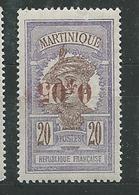 MARTINIQUE N° 106a  **  SUP Infime Fente Bord Supérieur Droit  3 - Martinique (1886-1947)