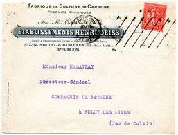 PARIS 116 / ARTS ET METIERS 1925 ? = FLAMME SAVAVA / KRAG Muette '9 Lignes Obliques Inégales' + Ets DEISS Timbre Perforé - Marcophilie (Lettres)