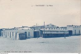 CPA  TAOURIRT (Maroc). La Place, Commerce Café, Cinéma. ..C211 - Marocco