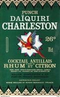 ETIQUETTES. FORT-de-FRANCE (Martinique).  Punch DAÎQUIRI CHARLESTON.  William CHARLESTON. ..K718 - Rhum