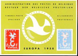 BELGIQUE BELGIUM LUXE SHEET EUROPA  COB LX29 - Luxevelletjes