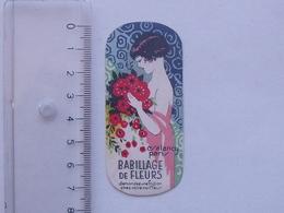 """CARTE PARFUMEE Ancienne: SALANCY Babillage De Fleurs - """"Demandez Une Friction Chez Votre Coiffeur"""" - Demoiselle - PARIS - Perfume Cards"""