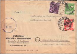 Zensur SBZ 167+168+169 Bezirkshandstempel-MiF 14 Großenhain 6.7.48 In Die Bizone - Sowjetische Zone (SBZ)