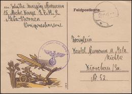Feldpost Zudruck Ähren Pflug Schwert Nachrichten-Komp. 8 Nach Kirschau 29.10.42 - Besetzungen 1938-45