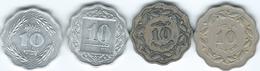 Pakistan - 10Paisa - 1964 (KM27) 1972 (KM31) 1974 - FAO (KM36) & 1996 (KM53) - Pakistan